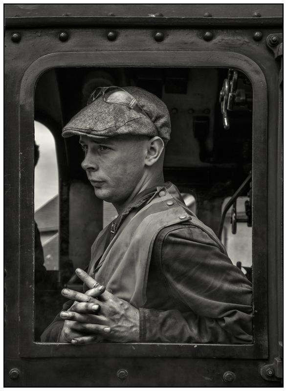 Simon Larson Photography - Steam train Driver, Mallaig, 2016