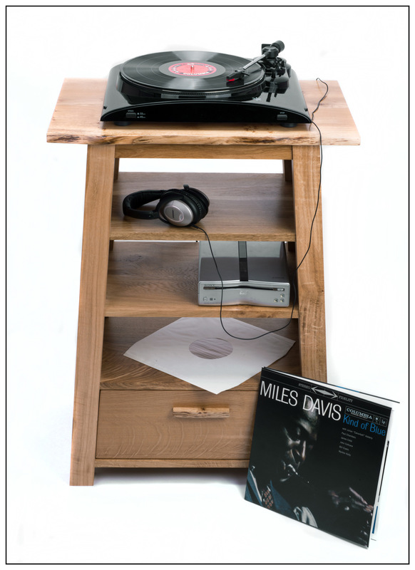 Simon Larson Photography - Stuart Shone Furniture - Bespoke Hi-Fi unit in solid wood