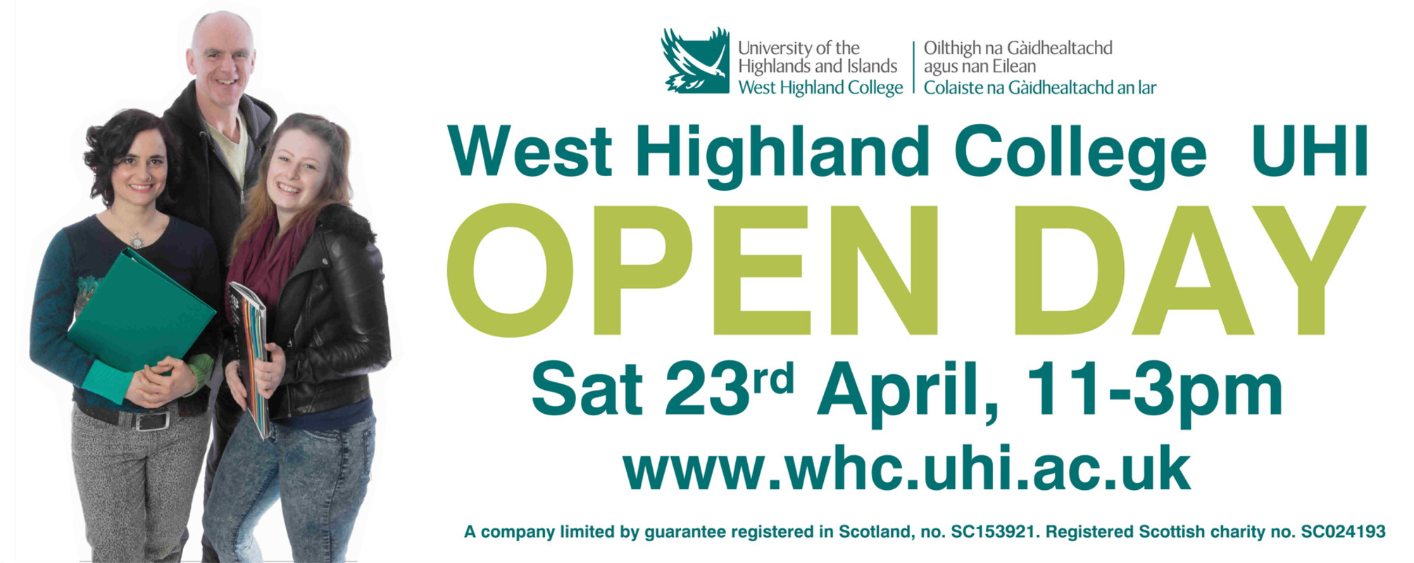 Simon Larson Photography - West Highland College UHI - Finished Leaflet