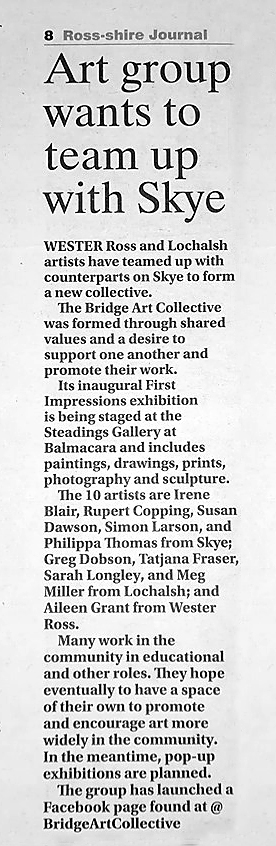 Simon Larson Photography - News feature on the Collective in the Ross-Shire Journal