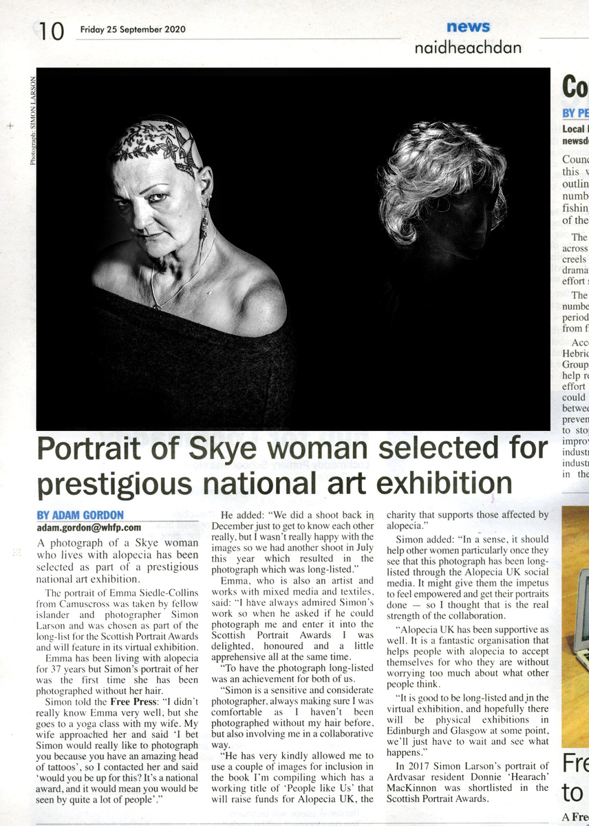 Simon Larson Photography - The West Highland Free Press feature