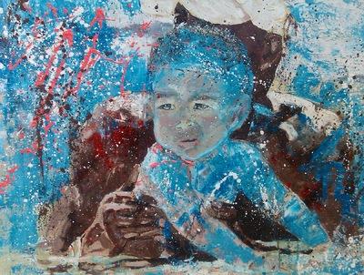 Vita James- London based contemporary artist painter -