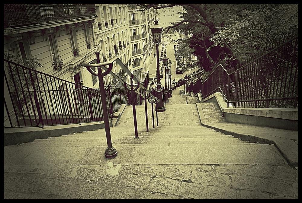 tania karaportfoliobox.fr - escalier de Montmartre