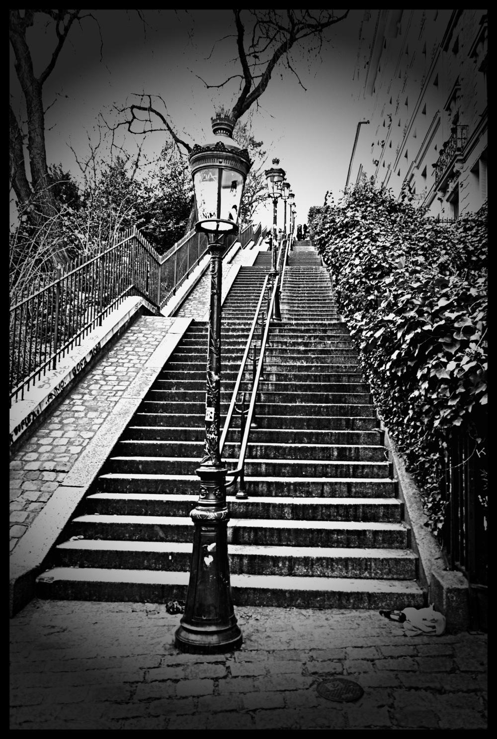 tania karaportfoliobox.fr - escalier de Montmartre II