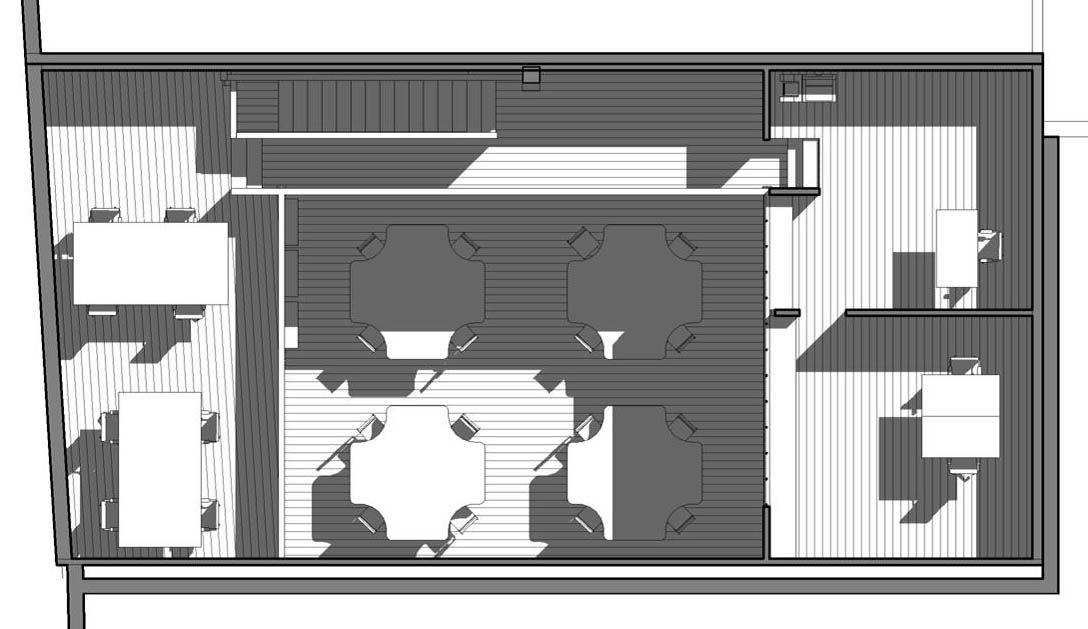 ENTRE AXES ARCHITECTURE - Mezzanine - Vue en plan