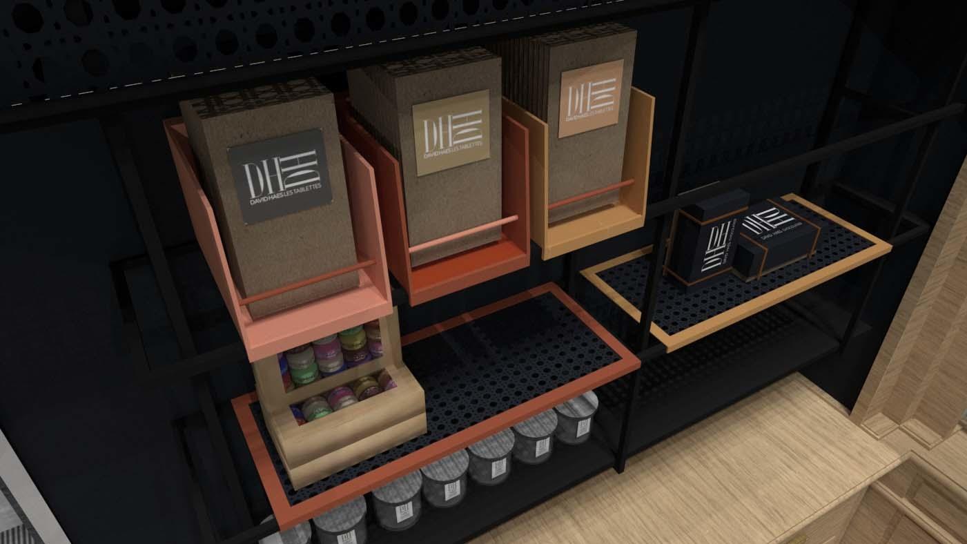 ENTRE AXES ARCHITECTURE - Présentoirs boutique