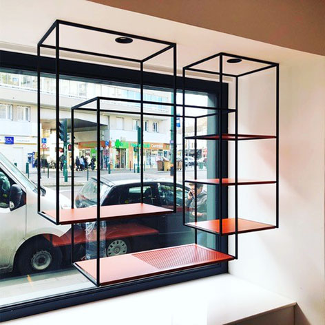 ENTRE AXES ARCHITECTURE - Présentoir vitrine