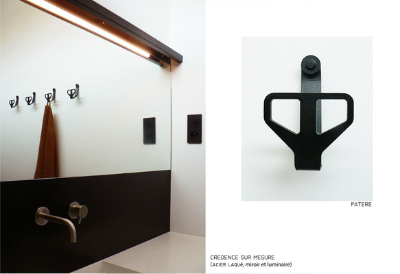 ENTRE AXES ARCHITECTURE - Crédence et miroir lumineux HEROES