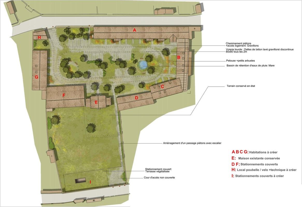ENTRE AXES ARCHITECTURE - Projet- Plan de masse
