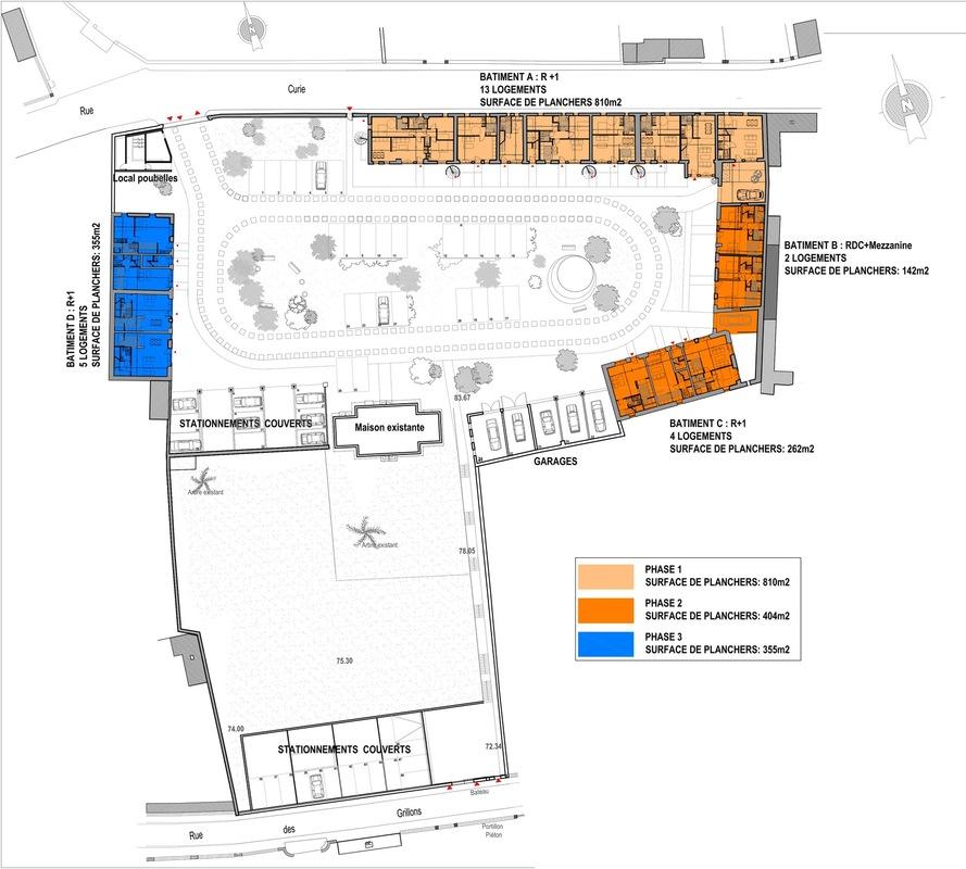 ENTRE AXES ARCHITECTURE - Projet- Plan densemble