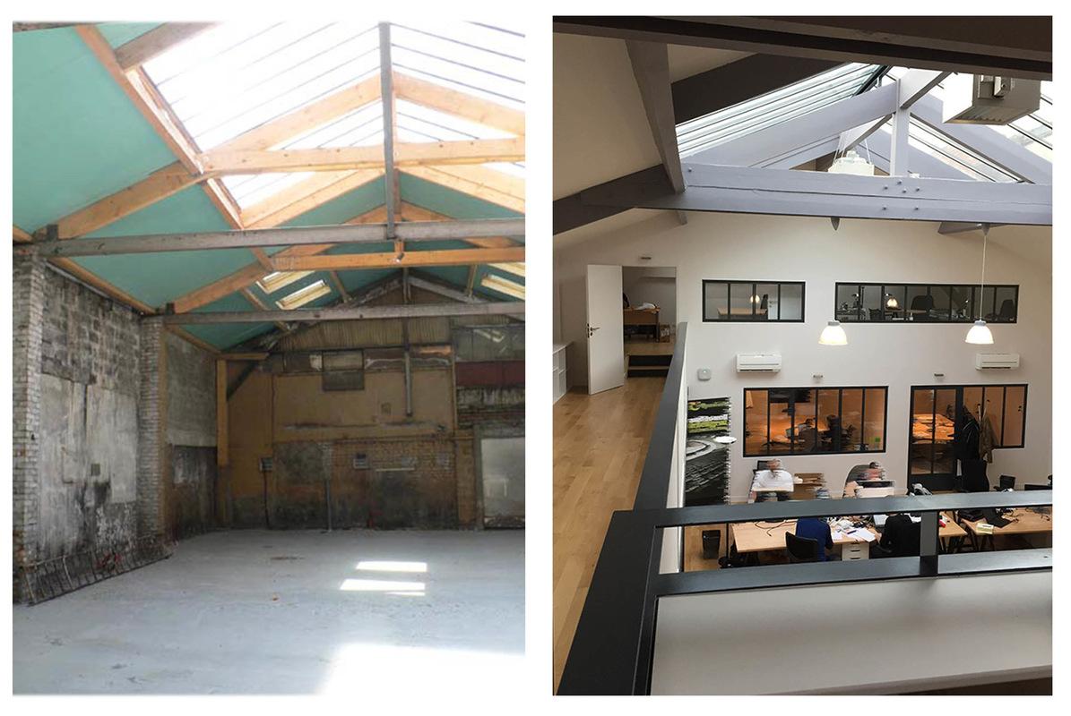 ENTRE AXES ARCHITECTURE - Vues avant et après travaux