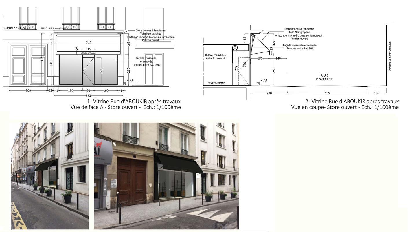 ENTRE AXES ARCHITECTURE - FACADE RUE DABOUKIR