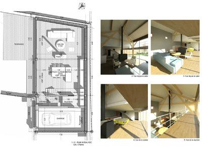 ENTRE AXES ARCHITECTURE - TRANSFORMATION DUNE GRANGE EN LOGEMENT Esquisse