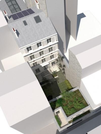 ENTRE AXES ARCHITECTURE - RENOVATION ET EXTENSION DUN HOTEL PARTICULIER -PARIS VII