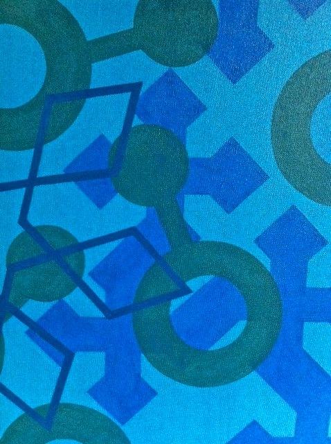 Cristan van Emden - compositie t,l&v, acryl op katoen 40 x 30,2007