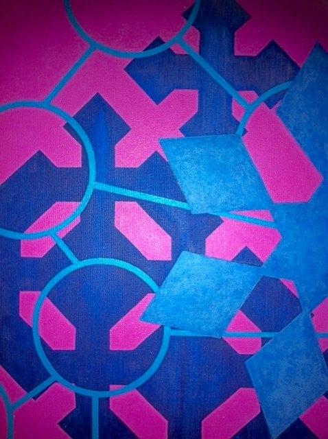 Cristan van Emden - compositie l,t &n, acryl op katoen 40 x 30,2007