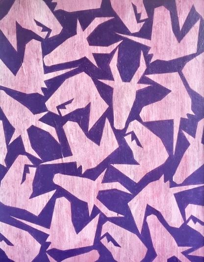 Cristan van Emden - Mythology 8,acryl op papier, 34 x 27, 2019