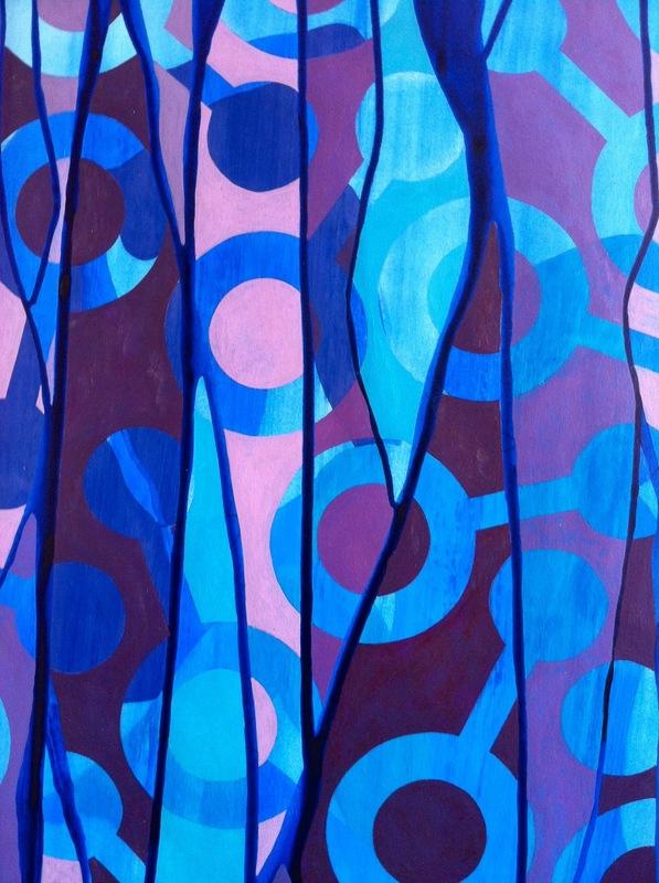 Cristan van Emden - compositie v&d, acryl op papier 43 x 28, 2014