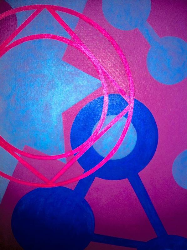 Cristan van Emden - compositie b&v, acryl op katoen 40 x 30, 2007