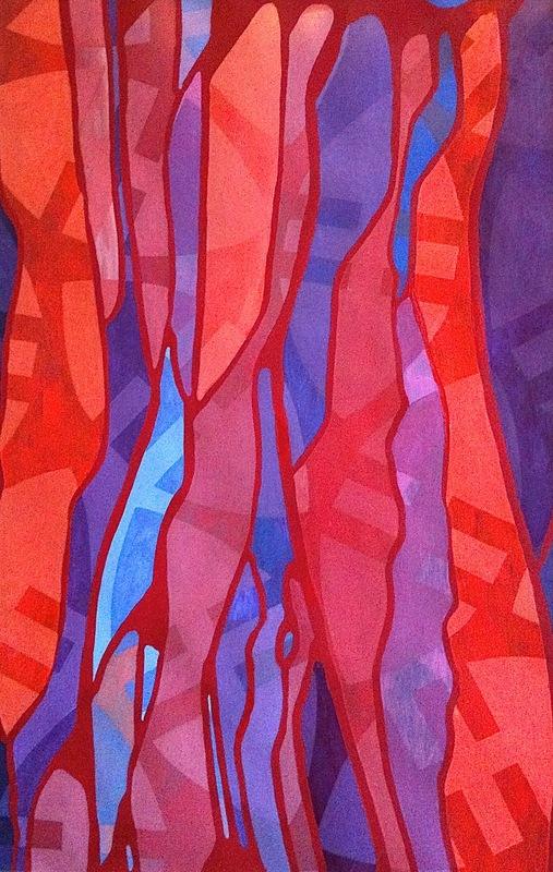 Cristan van Emden - compositie h&d, acryl op papier 43 x 28, 2014