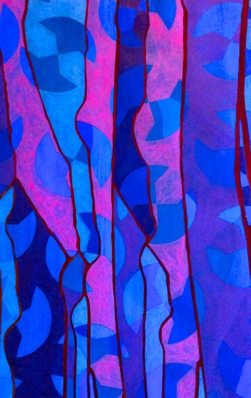Cristan van Emden - compositie s&d, acryl op papier 43 x 28, 2014