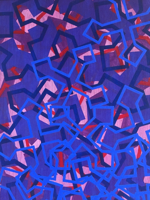 Cristan van Emden - 5 x l no: 2 acryl op papier 34 x 27, 2015