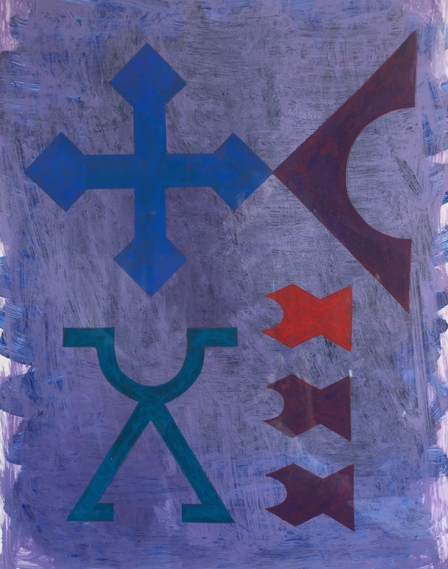 Cristan van Emden - believe, acryl op papier, 35 x 27,5, 2017