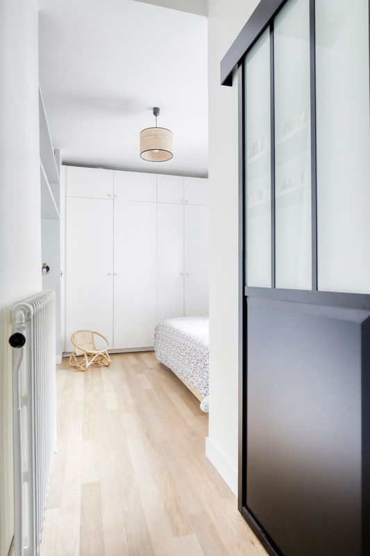 Charlotte Fequet - Rénovation dun appartement de 100m2 situé à Paris 3ème. 2018. Design Charlotte Féquet, Photos Meero.
