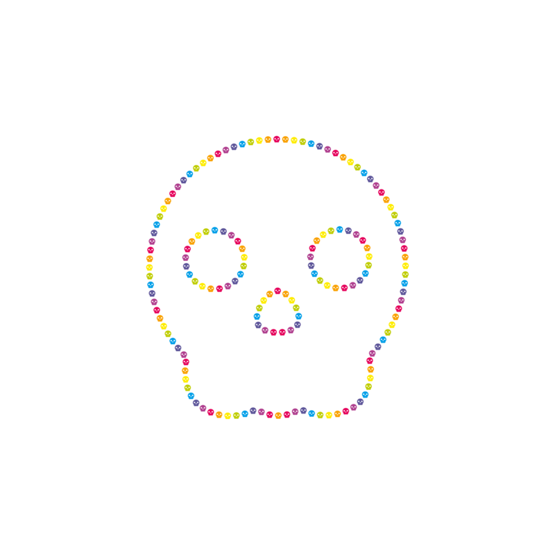 not so popular portfolio - color outline skull