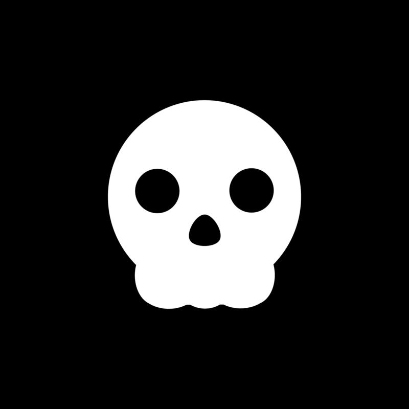 not so popular portfolio - white pop skull