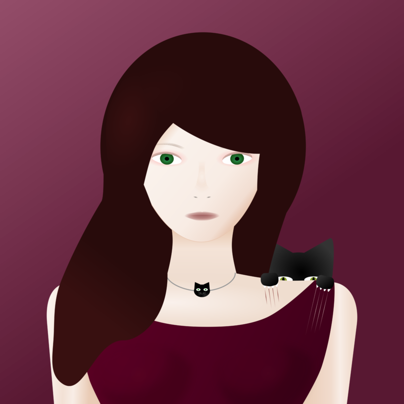 not so popular portfolio - girl with a cat