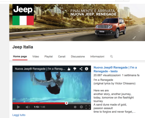 PaoloCipriani Imagestalk - Jeep Renegade commercial: 1 second clip (screenshot) purchased on Getty Images
