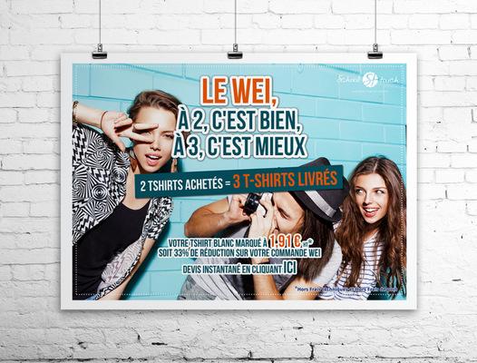 Sandra Le Garrec - Graphic Designer - Affiche Le WEI, à 2 cest bien, à 3 cest mieux - Groupe de jeunes