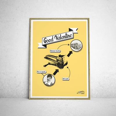 Sandra Le Garrec - Graphic Designer - Affiche Good Valentine II
