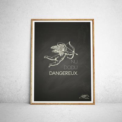 Sandra Le Garrec - Graphic Designer - Affiche Nu, dodu, dangereux