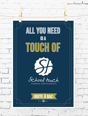 Sandra Le Garrec - Graphic Designer - Affiche Pour réussir votre Bac, ... All you need is a touch of School Touch