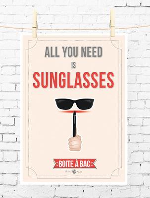 Sandra Le Garrec - Graphic Designer - Affiche Pour réussir votre Bac, ... All you need is sunglasses