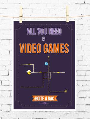 Sandra Le Garrec - Graphic Designer - Affiche Pour réussir votre Bac, ... All you need is video games (au moins un peu, pour décompresser)
