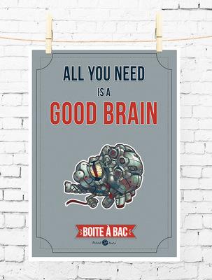 Sandra Le Garrec - Graphic Designer - Affiche Pour réussir votre Bac, ... All you need is a good brain