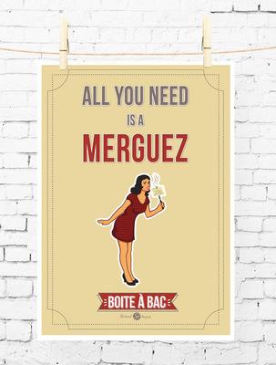 Sandra Le Garrec - Graphic Designer - Affiche Pour réussir votre Bac, ... All you need is a merguez (pourquoi pas ?)