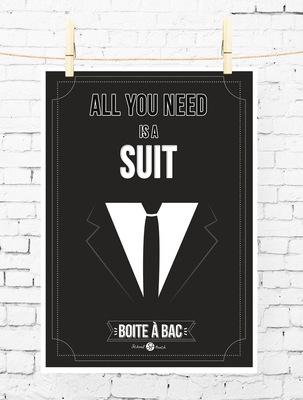 Sandra Le Garrec - Graphic Designer - Affiche Pour réussir votre Bac, ... All you need is a suit