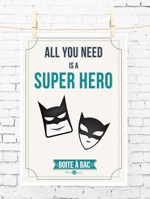 Sandra Le Garrec - Graphic Designer - Affiche Pour réussir votre Bac, ... All you need is a super hero