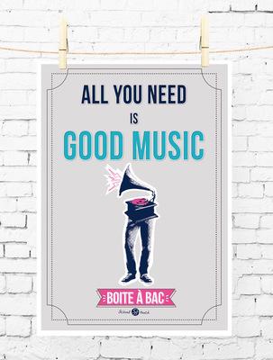 Sandra Le Garrec - Graphic Designer - Affiche Pour réussir votre Bac, ... All you need is good music