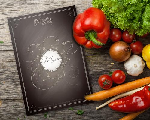 Sandra Le Garrec - Graphic Designer - Première de couverture du menu du Murano