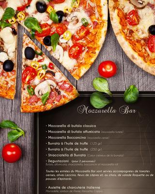 Sandra Le Garrec - Graphic Designer - Carte du Mozzarella Bar