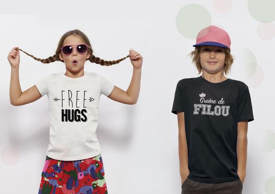 Sandra Le Garrec - Graphic Designer - Free Hugs pour les généreux - Graine de Filou pour les malicieux
