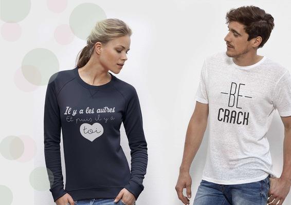 Sandra Le Garrec - Graphic Designer - Il y a les autres et il y a toi pour les amoureux - Be Crack pour les audacieux