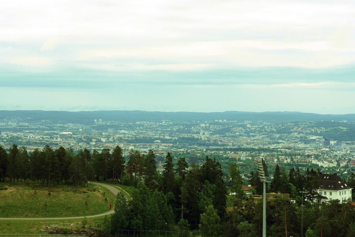 Linn Mattsson - Vy från Holmenkollen, Oslo