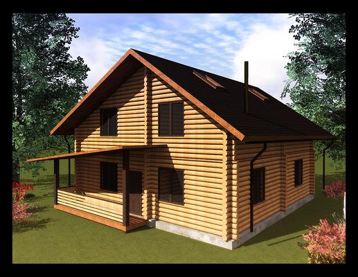 Архитектура и дизайн от Петра Горчицы - Проектирование дома из бруса, для компании Бытовкин