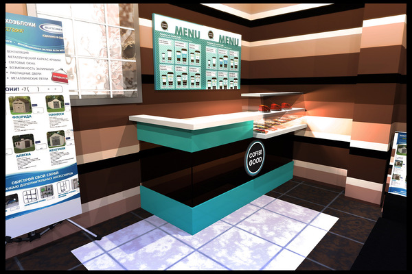 Архитектура и дизайн от Петра Горчицы - Проектирование кофейной стойки в ТЦ. г. Москва